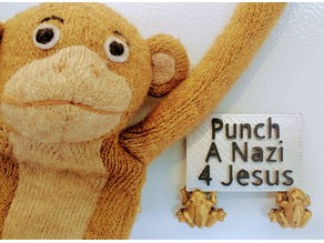 Punch A Nazi 4 Jesus Sign