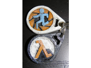 Half-Life and Portal universe keychains