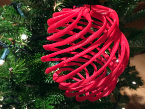 Helical Christmas tree ornament