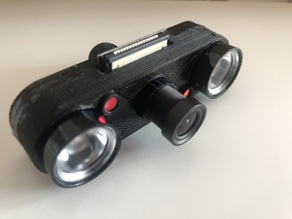 Camera housing for Pi camera with IR LEDs