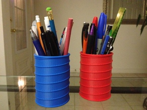 Helical Ribbed Pencil Container
