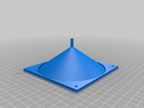 Fan Adaptor for air laser printhed 12x12 cm