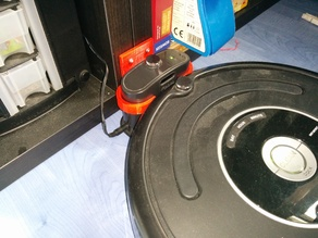 Roomba anti-drag mount