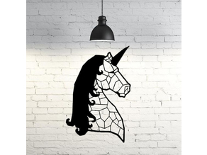 Unicorn Wall Sculpture 2D