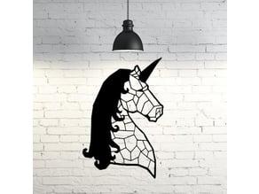 Unicorn Wall Sculpture 2D