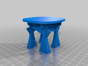 Temple coffee table (dollhouse scale)