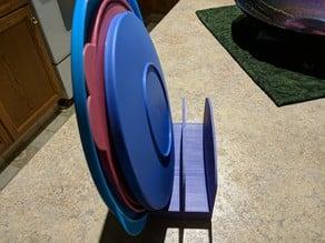 Round plastic lid holder
