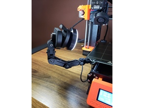 Prusa MK3s Y axis camera mount with integrated light