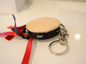 "Playable Portuguese ""Tuna"" Tambourine Keychain"