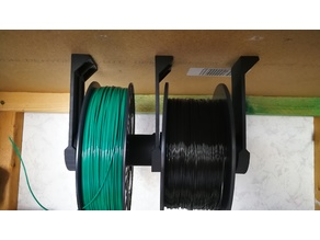 Upside down filament holder