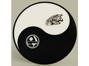 Starwars - Ying Yang - Death star - Millenium falcon