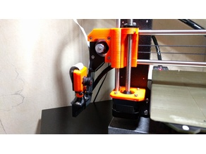 Prusa i3 MK2/MK2S/MK3 Webcam (Fish Eye) support and Strain relief