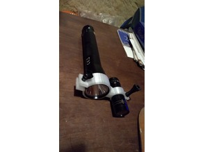 DVR camera mount on flashlight for night hunting