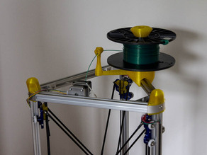 Parametric openscad Remix of Universal stand-alone filament spool holder