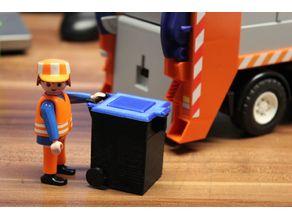 garbage bin / waste bin [playfab 182001, playmobil compatible]