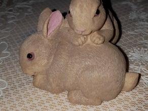 Scanned rabbit figure