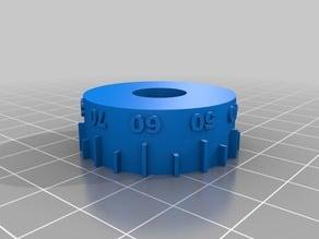 Metric dial for HF 7x10 mini lathe