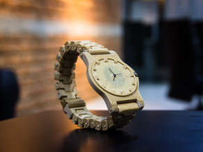 Functional Wood Fill Wrist Watch
