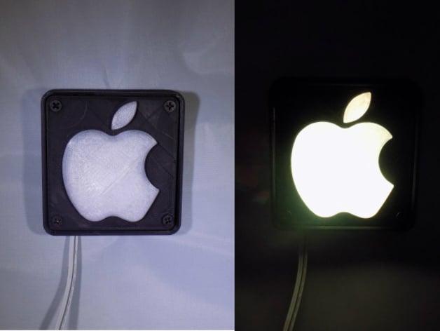 Apple Logo Led Nightlight Lamp By Jjpowelly Thingiverse