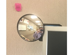 Computer Monitor Blind Spot Mirror