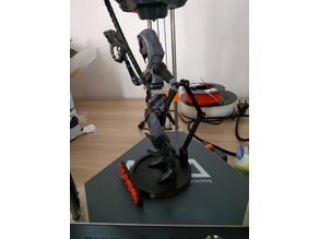 Action Figure Stand + Mass Effect Logo