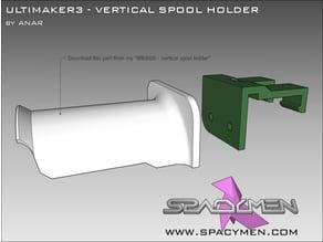 Ultimaker3 Vertical spool holder