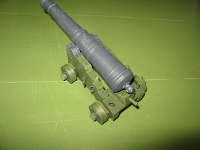Russian iron naval cannon 8pdr 1786 1/12