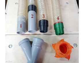Dust collection elastic hose and pipe connectors for 50mm system - SShopDC