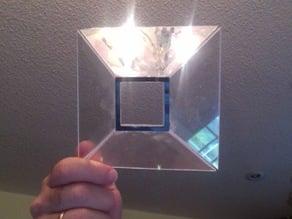 Hologram Viewer Lens Shoe 3x3 cm for Tablet or Laptop