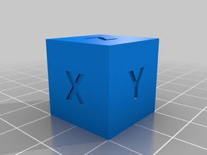 20mm XYZ Calibration Cube