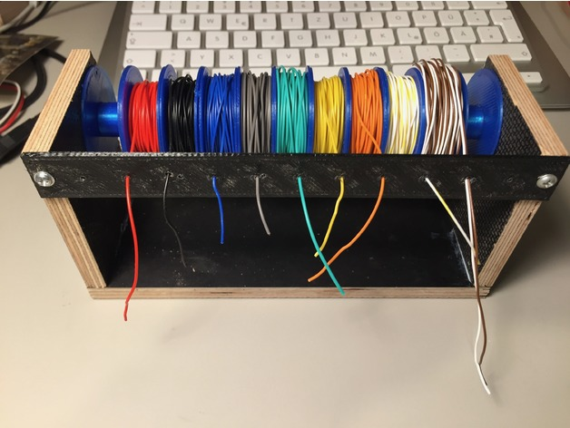 Electrical Wire Spool Rack | Parametric Guiding Bezel For Wire Spool Holder Kabelfuhrung Fur