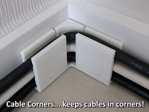 Cable Corners... keep cables in corners!