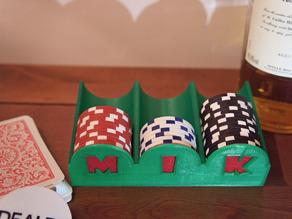 Poker Chip Tray (optional initials)