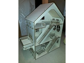 Lasercut Dollhouse and some furniture