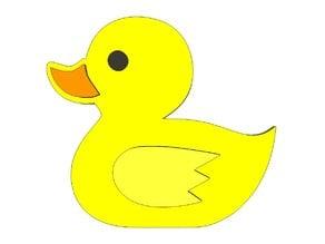 Rubber Duck Fridge Magnet