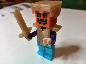 Lego Minecraft Gold Helmet