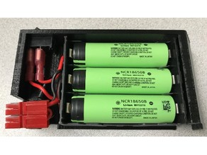 3 Cell 18650 battery pack with switch