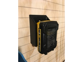 Wall Mount For DeWalt 12, 20 & 60V MAX Batteries.