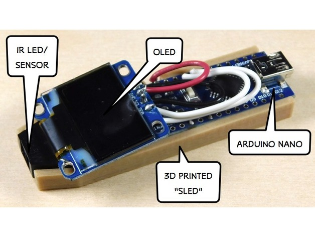 Prototype Arduino Tach Mounting Sled by makersendinfo