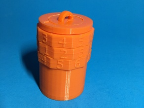 Combination Lock Container (1000 combinations)