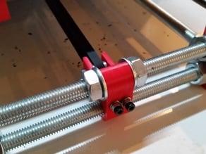 Prusa i3 Y-axis tensioner (M10/Rework)