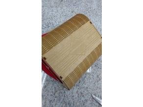 Laser cut plywood bag