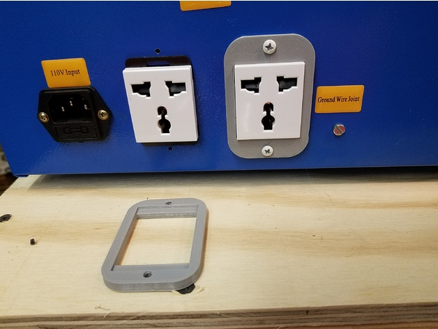 Mounting Bezel for K40 Laser Cutter Power Outlets by