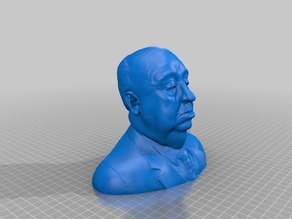 Lower polygon count of - Alfred Hitchcock bust