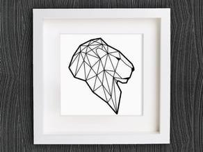 Customizable Origami Lion Head