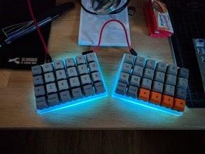 Let's Split Keyboard Plate & Case