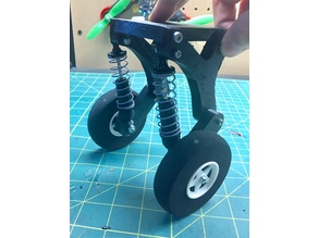 RC airplane suspension landing gear