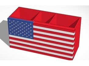 American Flag Pen Holder - Multicolor Palatte