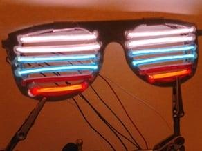 Electroluminescent Bar Glasses