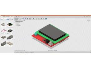 12864 LCD Display Mockup